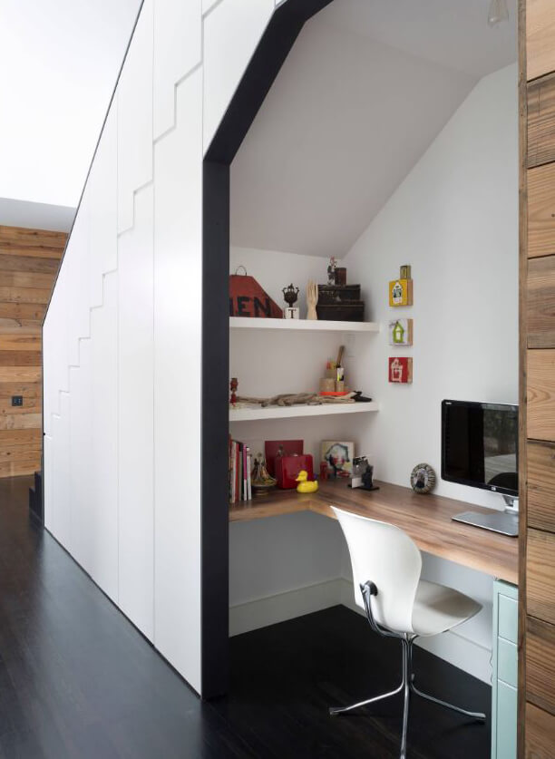 Work From Home creative solution, design by Hugh Jefferson Randolph Architects, Austin TX