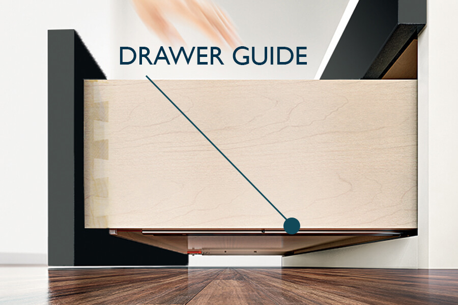 Kitchen Cabinet Drawer Guides Undermount and Full Extension from Dura Supreme Cabinetry