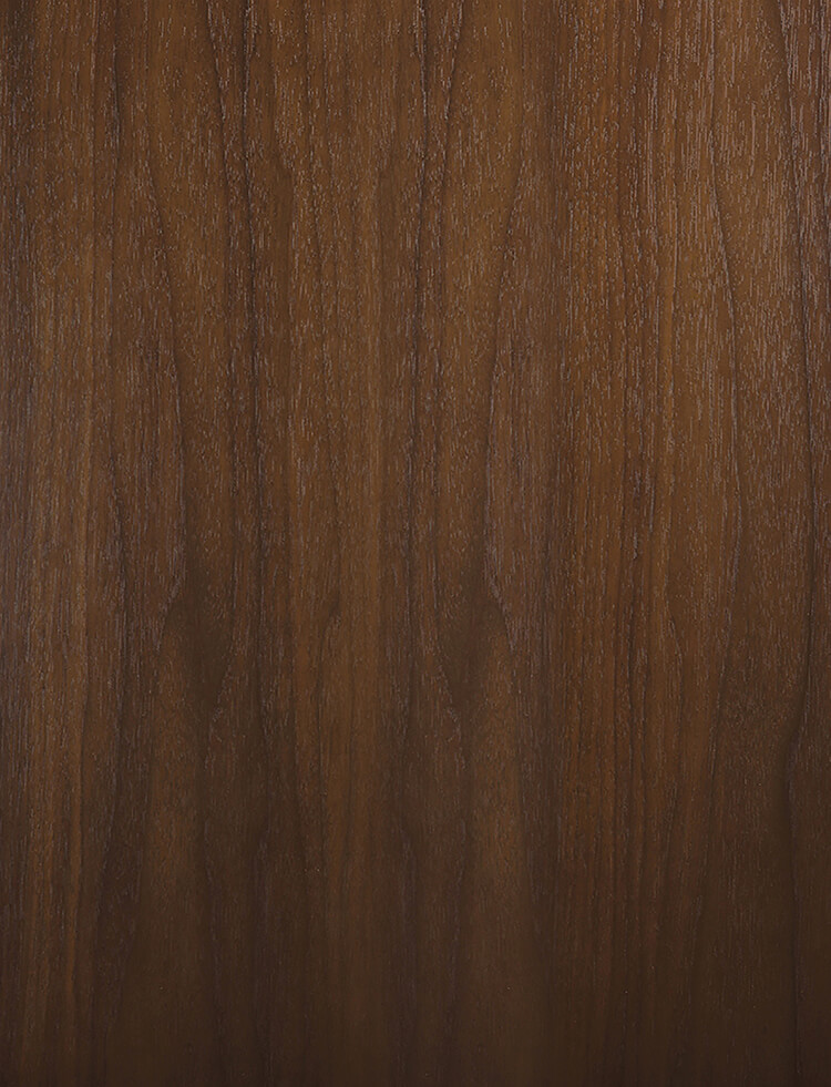 Walnut Exotic Veneer Cabinets from Dura Supreme Cabinetry. Kitchen cabinet wood material options.