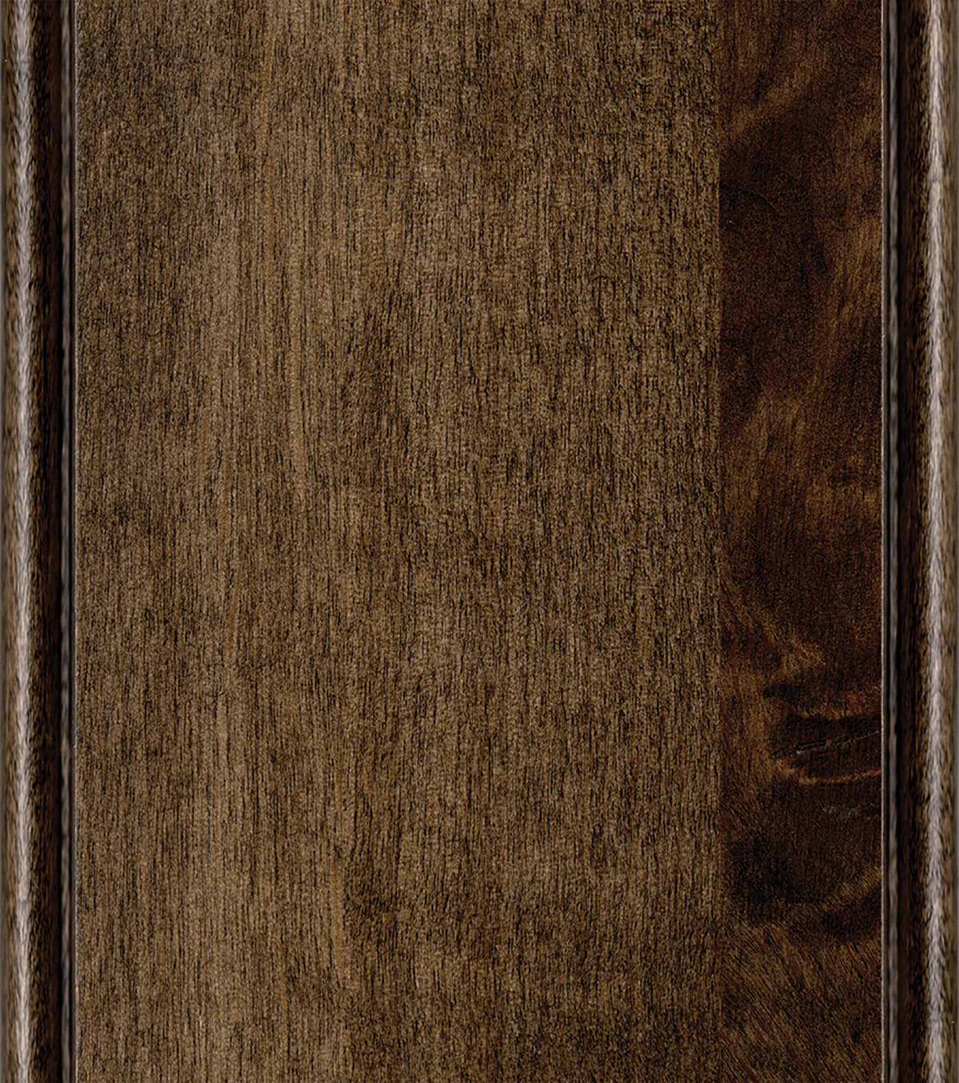 Brindle Stain on Knotty Alder