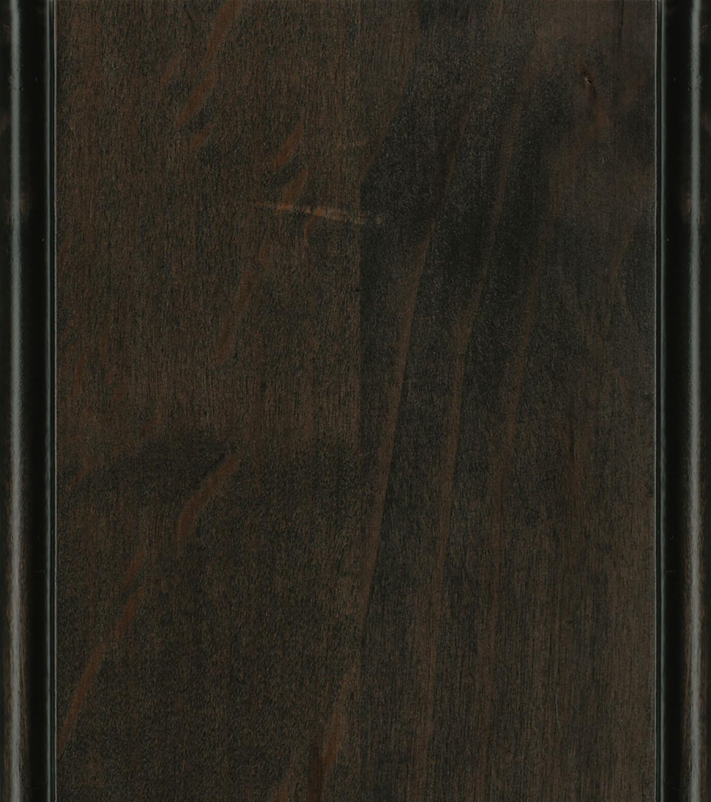 Caraway / Charcoal Glaze Stain/Glaze on Knotty Alder