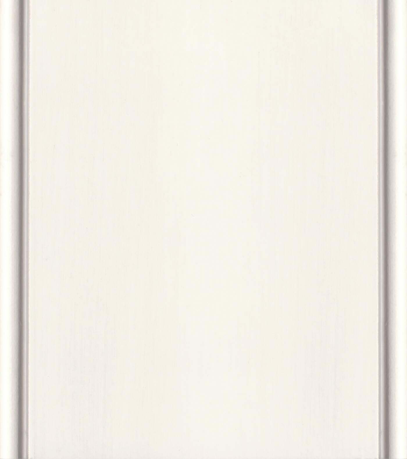 Classic White / Platinum Paint/ Glaze Finish on Paintable