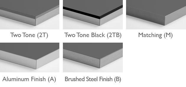 Acrylic Edgeband Options