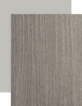 Laminate cabinets in both solid colors and woodgrain textures.