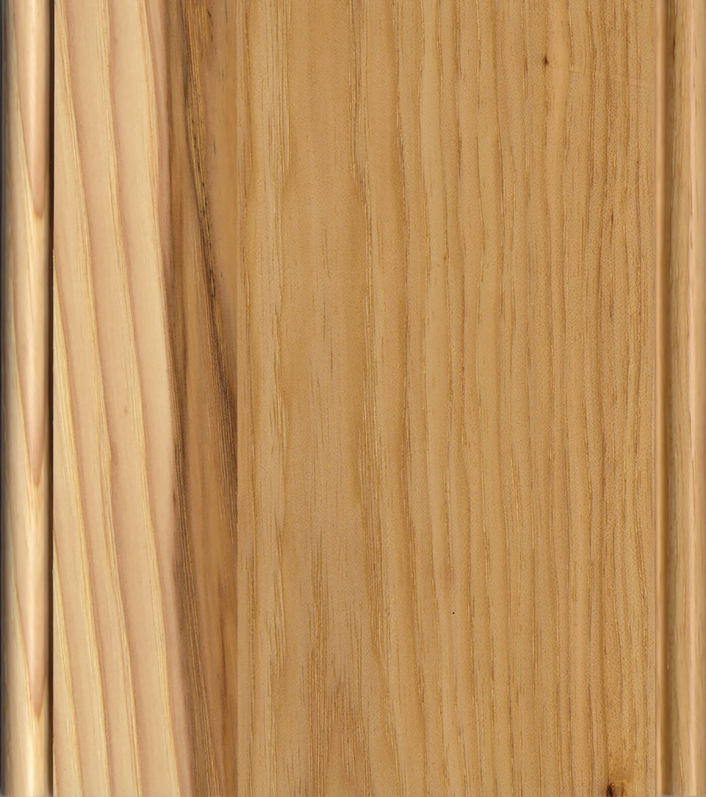 Natural Finish on Hickory or Rustic Hickory