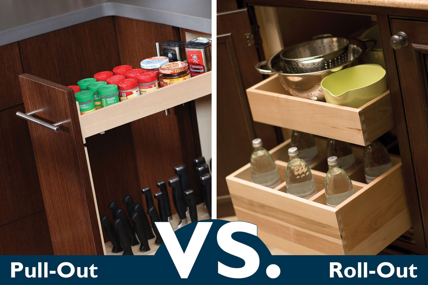 Pull-Out VS. Roll-Out Cabinet Storage